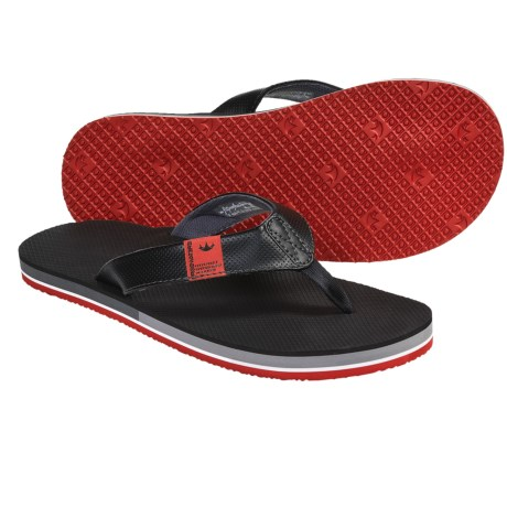 Freewaters The Dude Sandals - Flip-Flops (For Men) in Black/Red