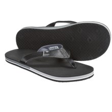 Freewaters The Dude Sandals - Flip-Flops (For Men) in Black - Closeouts