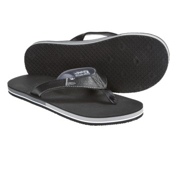 Freewaters The Dude Sandals - Flip-Flops (For Men) in Black