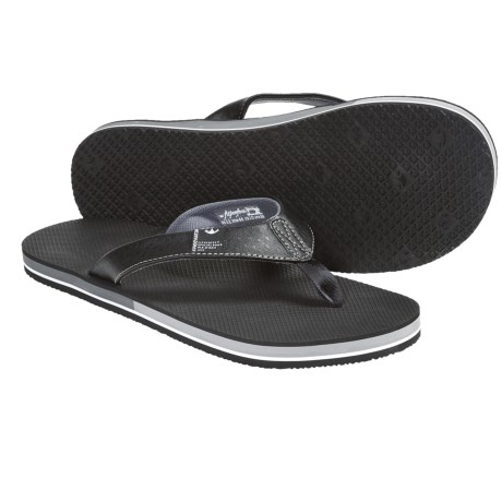 Freewaters The Dude Sandals - Flip-Flops (For Men) in Light Grey/Red