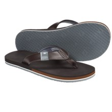 Freewaters The Dude Sandals - Flip-Flops (For Men) in Brown - Closeouts