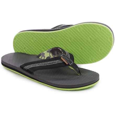 Freewaters Zac Flip-Flops (For Men) in Grey/Black/Yellow - Closeouts