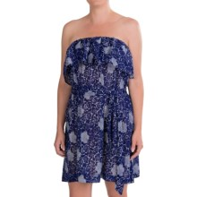 French Connection Oriental Daisy Cover-Up Dress - Strapless (For Women) in Maya Blue/Classic Cream - Closeouts