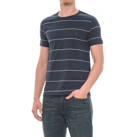 French Connection Simple Stripe T-Shirt - Short Sleeve (For Men) in Marine Blue