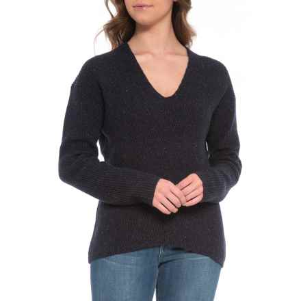 French Connection Two-Tone Tweed Knit Sweater (For Women) in Utility Blue Multi - Closeouts