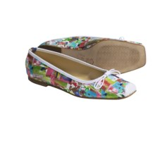 French Sole FS/NY Flat Shoes - Snip Art Print (For Women) in Houses - Closeouts