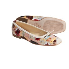 French Sole FS/NY Flat Shoes - Snip Art Print (For Women) in Poppy - Closeouts