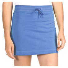 French Terry Athletic Skirt - Stretch Cotton (For Women) in Blue - 2nds