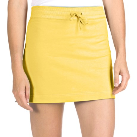 French Terry Athletic Skirt - Stretch Cotton (For Women) in Yellow