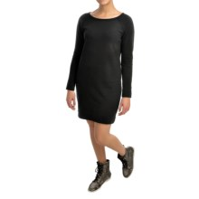 French Terry Dress - Long Sleeve (For Women) in Black - 2nds