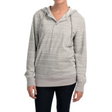 French Terry Hoodie - Button Placket (For Women) in Grey - 2nds