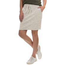 French Terry Skirt (For Women) in Beige Heather - 2nds