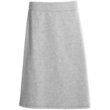 French Terry Skirt - Stretch (For Women) in Heather Grey - 2nds