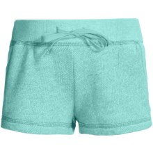 French Terry Sweatshorts - Elastic Waistband (For Girls) in Aqua - 2nds