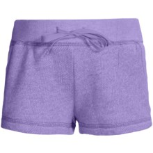 French Terry Sweatshorts - Elastic Waistband (For Girls) in Purple - 2nds