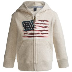 French Terry Zip Hoodie (For Infant and Toddler Boys) in Ash