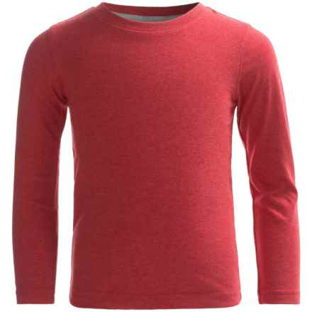 French Toast Basic Shirt - Long Sleeve (For Little and Big Boys) in Red Heather - Closeouts
