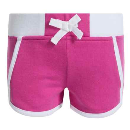 French Toast Dolphin Shorts (For Little Girls) in Medium Pink - Closeouts