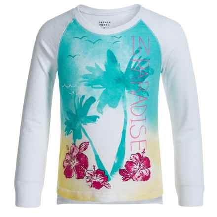 French Toast Graphic Shirt - Long Sleeve (For Little Girls) in White - Closeouts