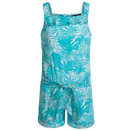 French Toast Printed Romper - Sleeveless (For Little Girls) in Medium Blue - Closeouts