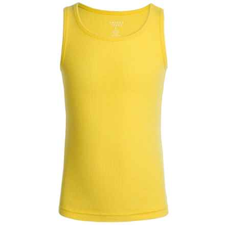 French Toast Rib Tank Top (For Little Girls) in Bright Yellow - Closeouts