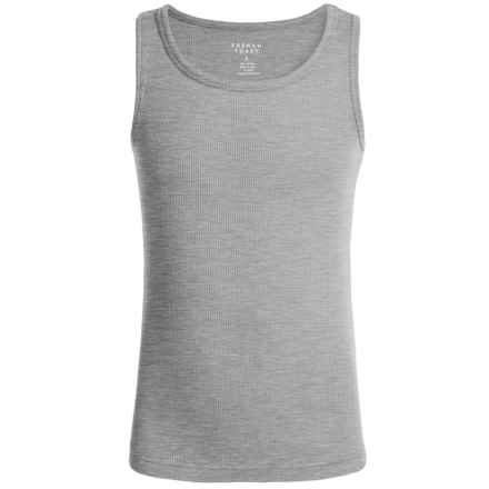 French Toast Rib Tank Top (For Little Girls) in Light Grey - Closeouts