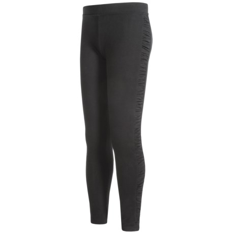 French Toast Ruched Leggings (For Big Girls) in Black