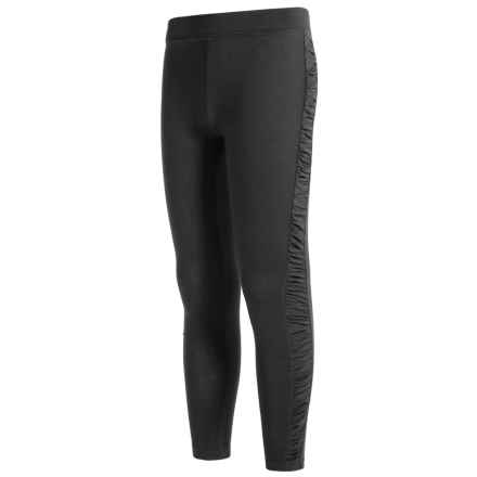 French Toast Ruched Leggings - Stretch Cotton (For Big Girls) in Black - Closeouts