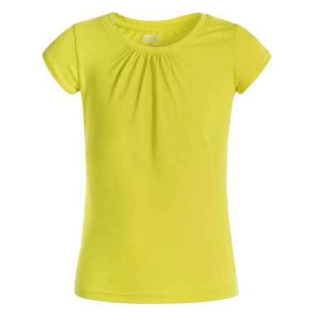 French Toast Ruched-Neck T-Shirt - Short Sleeve (For Big Girls) in Yellow - Closeouts