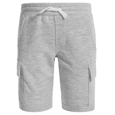 French Toast Terry Cargo Shorts (For Big Boys) in Heather Grey - Closeouts
