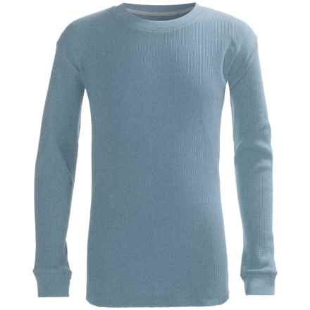 French Toast Thermal Shirt - Long Sleeve (For Big Boys) in Blue Heather - Closeouts