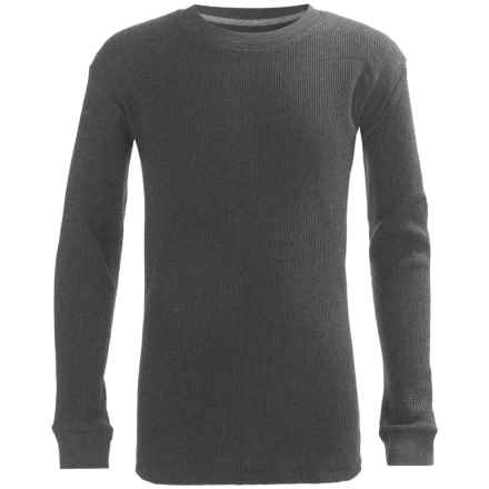 French Toast Thermal Shirt - Long Sleeve (For Big Boys) in Charcoal - Closeouts