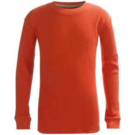 French Toast Thermal Shirt - Long Sleeve (For Big Boys) in Medium Orange - Closeouts