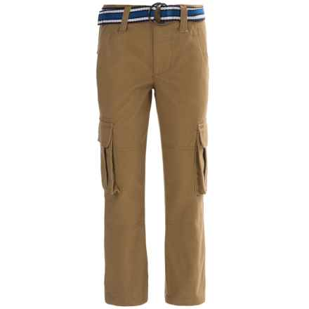 French Toast Twill Cargo Pants (For Little and Big Boys) in Ant Bronze - Closeouts