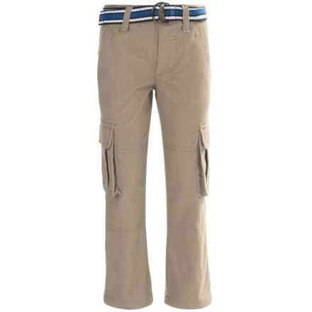 French Toast Twill Cargo Pants (For Little and Big Boys) in Khaki - Closeouts