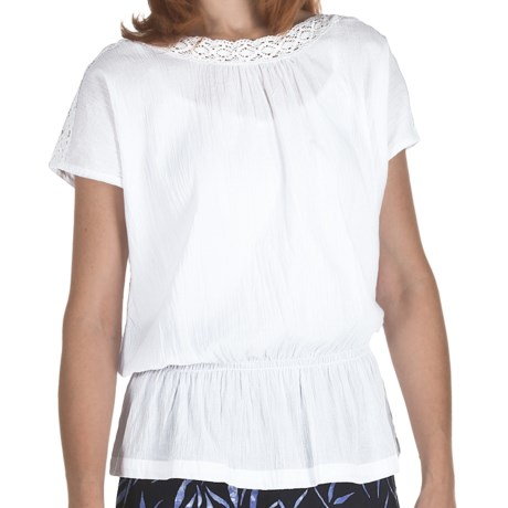 Fresco by Nomadic Traders Breezy Cotton Zara Shirt - Short Sleeve (For Women) in White