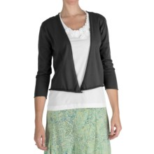 Fresco by Nomadic Traders Cotton Demi Cardigan Sweater - 3/4 Sleeve (For Women) in Black - Closeouts