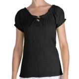 Fresco by Nomadic Traders Smocked Gianna Shirt - Short Sleeve (For Women)