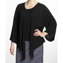 Fresco by Nomadic Traders Yoshi Shirt - Crinkle Rayon, 3/4 Sleeve (For Women) in Black - Closeouts