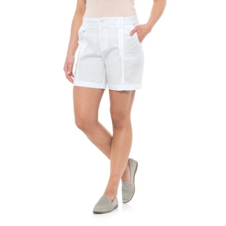 Fresh Solid Cotton Shorts (For Women) in White