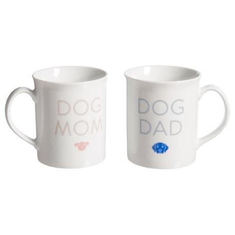 Fringe Studio Holiday Porcelain Mugs - 12 fl.oz., 2-Pack in Dog Parents