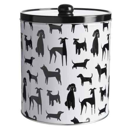 "Fringe Studio Printed Dog Treat Tin - 6.75x7.5"" in Black/White - Closeouts"