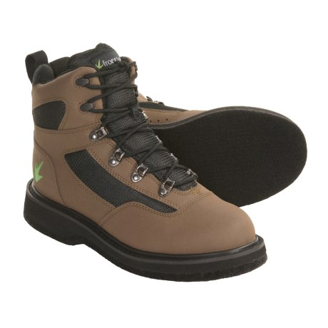 Frogg Toggs Amphib Wading Shoes - Felt Sole in Brown/Black