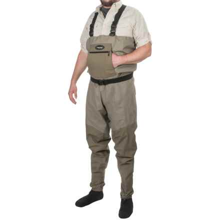 Frogg Toggs Anura Waders - Waterproof Breathable, Stockingfoot (For Men and Women) in Beige/Khaki - Closeouts