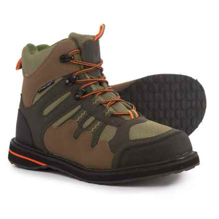 Frogg Toggs Anura Wading Boots - Sticky Rubber Soles (For Men) in Camel/Moss/Stone - Closeouts