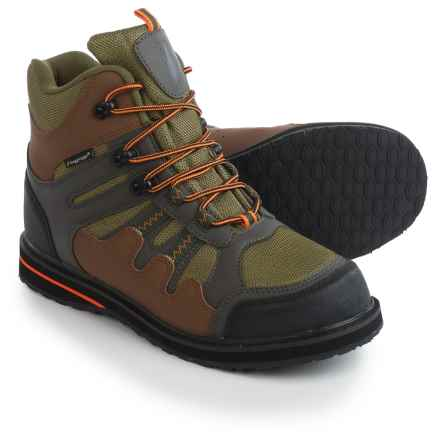 Frogg Toggs Anura Wading Boots - Sticky Rubber Soles (For Men) in Olive/Camel - Closeouts