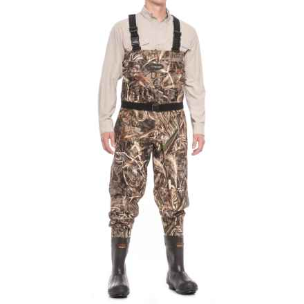 Frogg Toggs Hellbender Breathable Chest Waders - Insulated Bootfoot (For Men) in Realtree Max5 - Closeouts