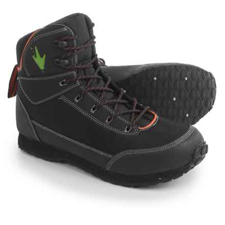 Frogg Toggs Kikker Wading Boots - Rubber Studded Sole (For Men) in Black - Closeouts