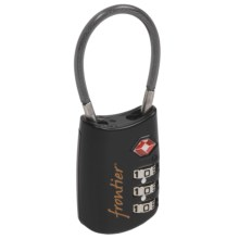 Frontier Cable Lock Luggage Lock in Black - Closeouts