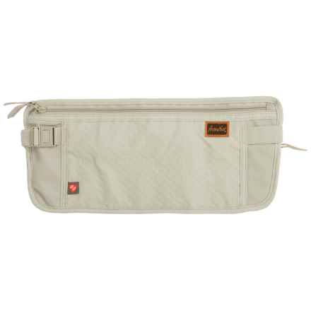 Frontier RFID-Blocking Waist Stash Travel Wallet in Tan - Closeouts